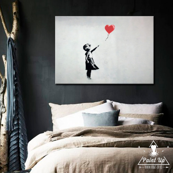 Девушка с Красным воздушным шаром от Banksy