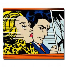 In the car (Roy Lichtenstein Рой Лихтенштейн)